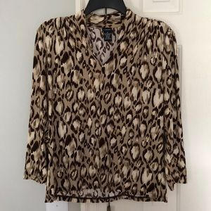Rafaella cheetah print blouse
